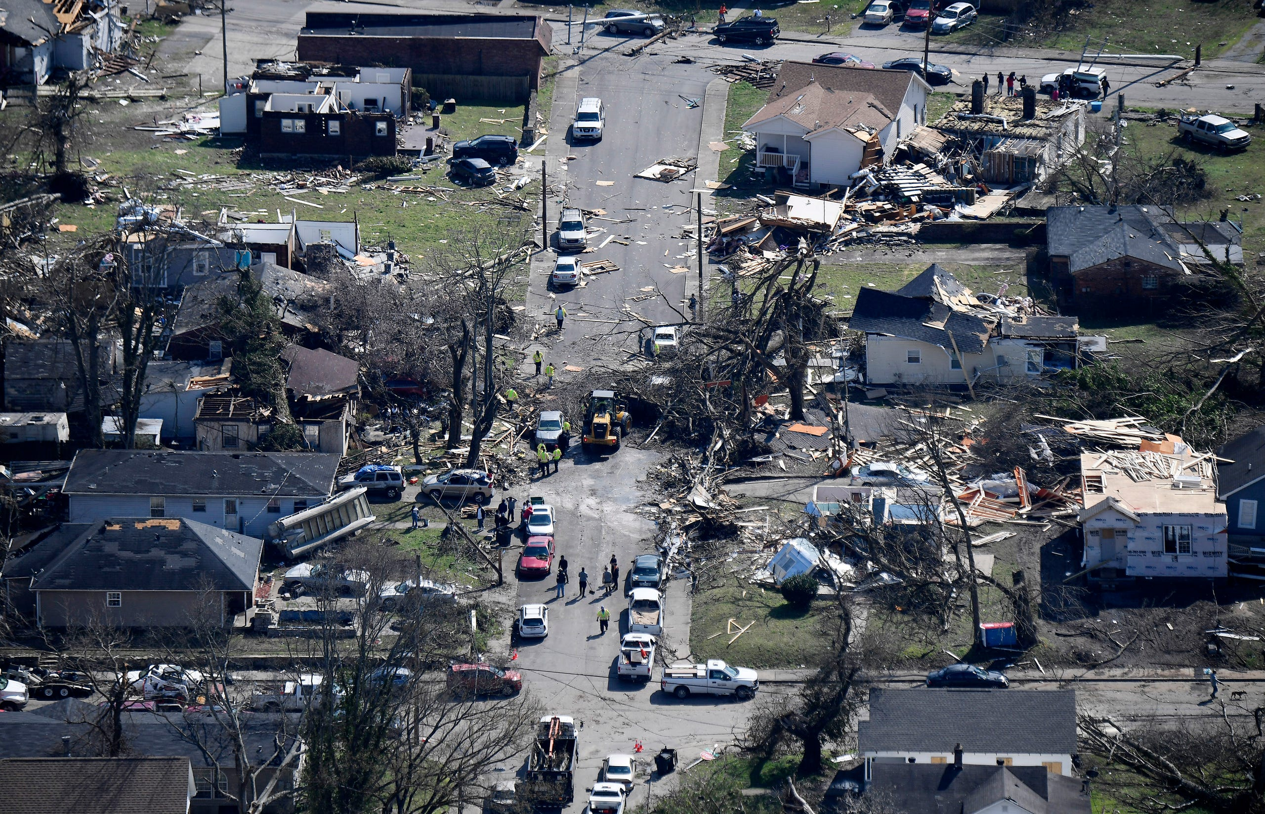 Nashville, Tennessee Tornado Aftermath